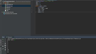 Python Program to Print the Fibonacci numbers sequence